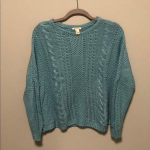 Forever 21 teal sweater